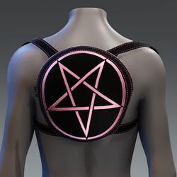 Metallic Pentagram Backpack [Pink]