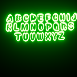 Complete Alphabet Set Font: Snackers