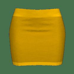 Woman Simple Skirt - Orange
