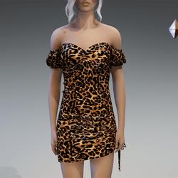 Plastic Leo Dress in Classic Brown