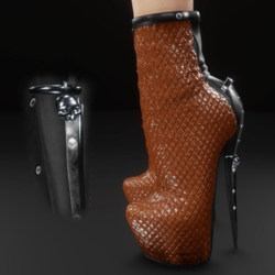 Brown moto skully charm boots