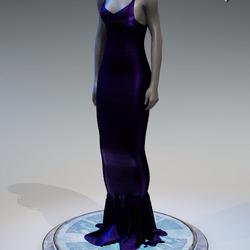 Pentagram Evening Gown [Purple]