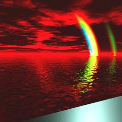Lepers Art - Soft Dark Wasteland Sky Water