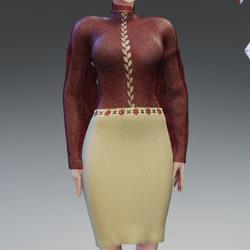 Bordeaux Red Lace Dress by Acpixl
