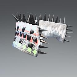 Futuristic Cyberpunk Collar - Studs & Spikes Glow-Animated - Male