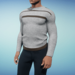 Shirt for man long gray