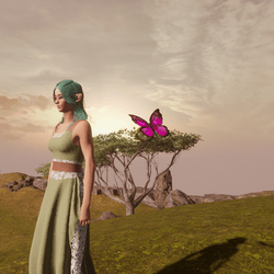 Animated Butterfly pet pink [Earing slot]