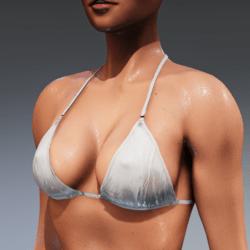 Bad Bunny wet look bikini top (white) for Kismet Body  by Apocalypse Bunnies