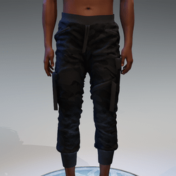 Cargo Pants for male in black camouflage