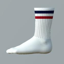 Tennis-Socks retro blue-red_man