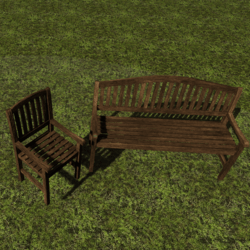 bench with chair wood
