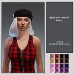 tiffany wool cap-dark brown-updated