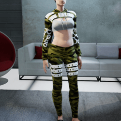 camouflage outfit demo