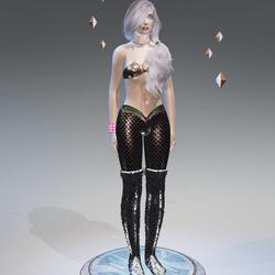 Red Mermaid Leggings - Female