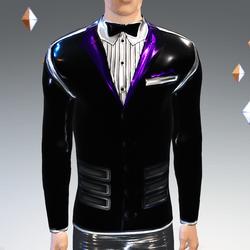 Black-Purple Peak Simulated Modern-Tux - Male