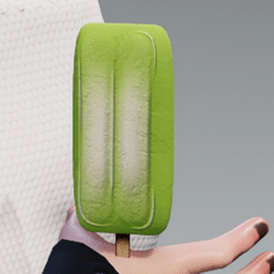 Ice cream l-lime in arm