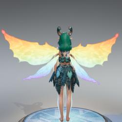 Rainbow Fairy Wings [Necklace Slot]