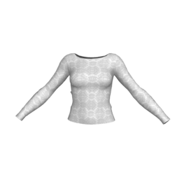Long Sleeve White Print Shirt