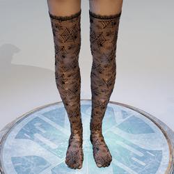Spiderweb fishnet stockings