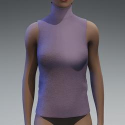 Grey lavender turtle neck top