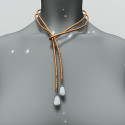 Lariat necklace - orange