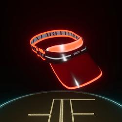 Visor Unisex Red