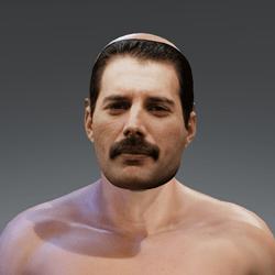 Freddy Mercury Mask Accessory