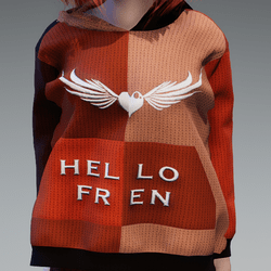 Hello Fren Knitted Hoody