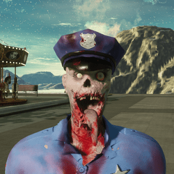 Cop Hat for Zombie Avatar