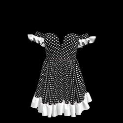 Baby Doll Vintage Polka Dot Dress 03