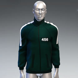 """""""Squid game"""" style sweat jacket male 456"""