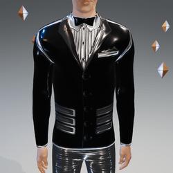 Black-Gray Peak Simulated Modern-Tux - Male