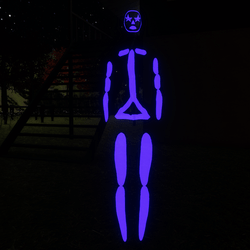 Indigo Emissive Rigged Stick Woman Avatar
