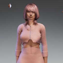 Cropped Jacket Pink