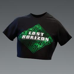 Unisex Lost Horizons Green Grid Croptop