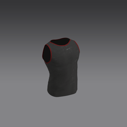 Plain Male Jersey - Black and Red (MsAquaria)