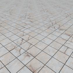 White Marble Grid Tiles