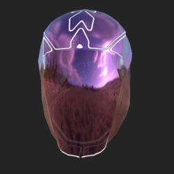 GARY UNISEX HELMET GLASS EMISSIVE ANIMATED  LILAC