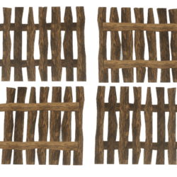 Little Wooden Fence - brown