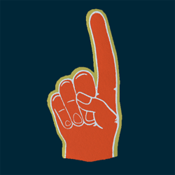 Foam Hand - M - Orange