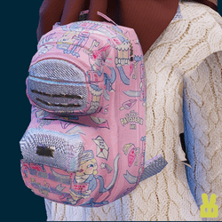 small milk joy backpack - pink