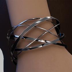Silver spiral bands bracelet