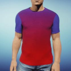 Mens Tee - Purple Red