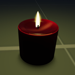 Red Half Pillar Candle