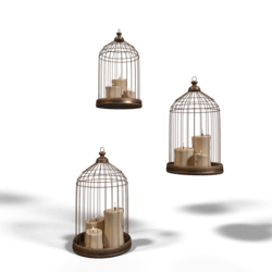 Candle Cage Set Animated