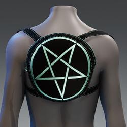 Metallic Pentagram Backpack [Green]