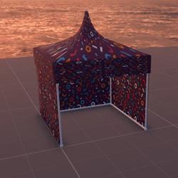 Tent/MarketStall/Gazebo (PurplePattern)
