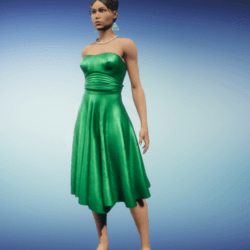 party dress_emerald