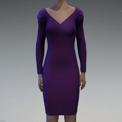 Long sleeve violet dress