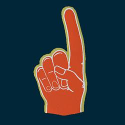 Foam Hand - F - Orange